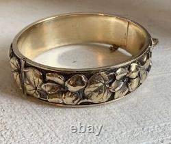 Old Art Bracelet New Gold Plated Jonc Sleeve Vintage Gold Plated Bangle