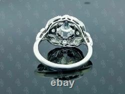 Old Art Deco Vintage Engagement Ring Silver Sterling