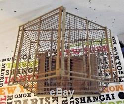 Old Cage Canary Goldfinch Vintage Wooden 1900 And To Restore Metal