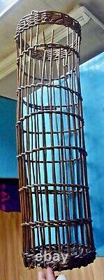 Old Cart Rattan Wood Shape Time Filter Cluster Grape Vine Vintage 1900