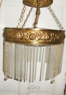 Old Chandelier 4flamig Art Nouveau Ceiling Lamp Suspension Chandelier Vintage