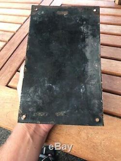Old Enamelled Plate Plate Bombee Loft Factory Vintage Around 1920