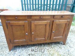 Old Enfilade Low Sideboard 3 Doors Vintage Walnut Old Mountain Chalet