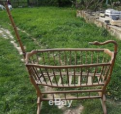 Old Large Cradle Wood Goose Neck Goose Vintage 1900 Bourgogne France