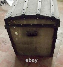Old Malle Chest Travel Bombed With Keys And Vintage Baskets Circa 1900