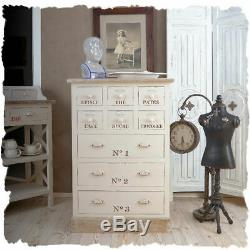 Old Pharmacy Shabby Chic Dresser Drawers Art Deco House Wardrobe