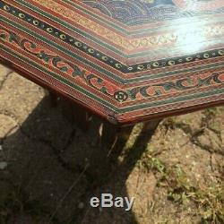 Old Small Tea Table In Lacquered Wood Vintage Art Deco