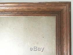 Old Style Photo Frame Oak Vintage Art Nouveau Interior 41.7 X 35.2 CM