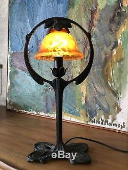 Old Style Table Lamp Art Nouveau Gerstenberg Arts And Crafts Handmade Vintage