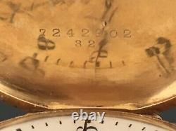 Omega Gossip Watch Solid Gold, Art Nouveau, Perfect Condition. Pocket Watch. 69gr