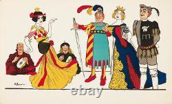 Original Vintage Print Barrere French Medieval Court Art Nouveau Cinema 1905