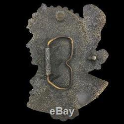 Our Vintage 70's Byzantine Brunette Alphonse Mucha Art Nouveau 1897 Rare