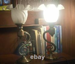 Pair Of Vintage Art Nouveau Table Lamp. Art Deco Table Lamp MID Century