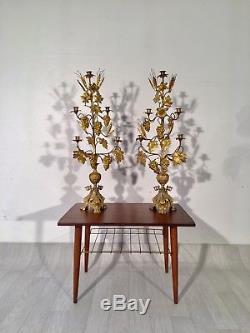 Pair Of Vintage Bronze Candlesticks