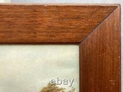 Photo Frame Walnut Wood Um 1920 Vintage Antique 53.5 X 43.5 CM Art Nouveau