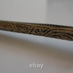 Pipe Carved Nickel Metal Handmade Vintage Art Nouveau Deco Design Twentieth N5109