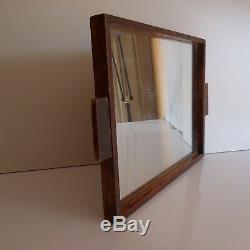 Plate Glass Mirror Handmade Wooden Deco Design Twentieth Vintage Art France Pn N3045