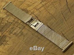 Pontiac Pm Art Deco White Gold Filled Vintage Watch Band 19mm Our Nine 585ms