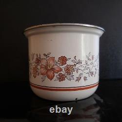 Pot Metal Enamelled Vintage Art Nouveau Design 20th Pn France N2854