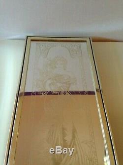 Rare Mirror Vintage Spring Sign Mucha Art Nouveau