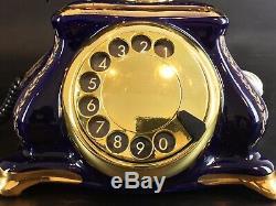 Rare Vintage Art Nouveau Limoges Porcelain Style Phone Model