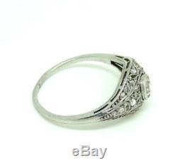 Ring Art Nouveau Ans'10 Liberty Or Massive 18 Kt Vintage Diamond 0,20 Ct