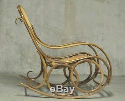 Rocking Chair Thonet Art Nouveau 1900 Art Deco Vintage