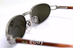 Rolling 736 Men's Silver Oval Mat Vintage 90 Made In Italy Sunglasses