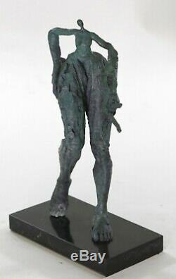 Salvador Dali Genuine Vintage Bronze Metal Female Surrealist Modern Art In