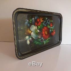 Serving Tray Bouquet Flowery Vintage Art Nouveau Deco Design France Pn N2957