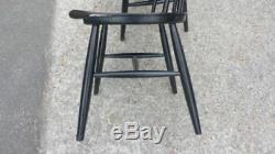 Set Of 4 Vintage Wooden Chairs Fanett Tapiovaara 60s Scandinavian Year
