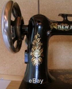 Sewing Machine Scudan New Paris National Sewing Machine Vintage Art Nouveau 1890