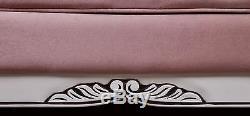 Sofa Baroque Antique Rose Massif Aged Vintage Art Style Upholstered Furniture