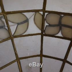 Stained Glass Chandelier Suspended Lighting Bakelite Vintage Handmade Art Nouveau N3328
