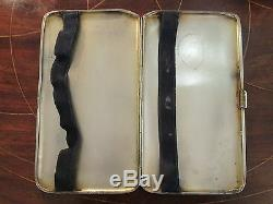Sterling Silver Cigarette Case 226g Vintage Silver Cigarette Case