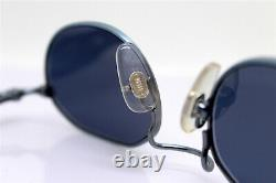 Sting 4199 Made In Italy Sunglasses Male Female Octogonal Blue Punk 90