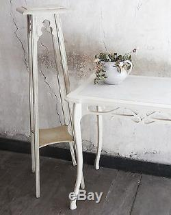 Table And 2 Old Wooden Saddles And Marble Art Nouveau Vintage 1900 XX
