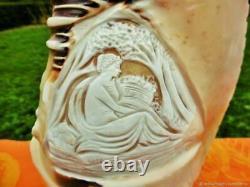 Table Lamp Antique Veilleuse Profile Shell Art New France Antique Tabl