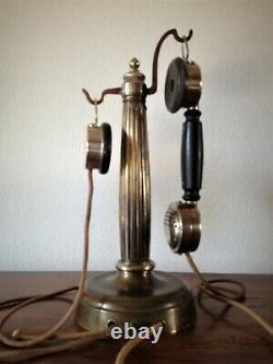 Telephone Ancient Column Art Nouveau Grammont Vintage Phone Telefon