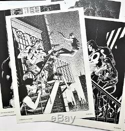 The Punisher 2 Original Vintage Portfolio Marvel Prints Mike Zeck Art Set Limited