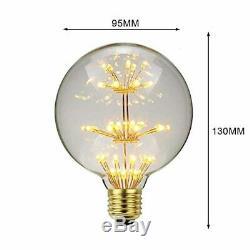 Tianfan Rgb Led Bulb Vintage Starry Light Bulb Fire Decorative Art
