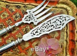 Together Elder Service Fish Art Nouveau Silver Vintage Antique France