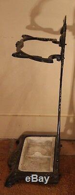 Umbrella Holder French Art Nouveau Porcelain Cast Iron Umbrella Vintage Stand