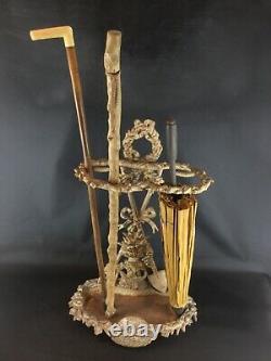 Umbrella-stick Holder In Cast Iron (heavy 10kg) Vintage Style Art Nouveau Country