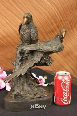 Unique Vintage Bronze Sculpture Parrot Antique Quality Art Deco Artwork