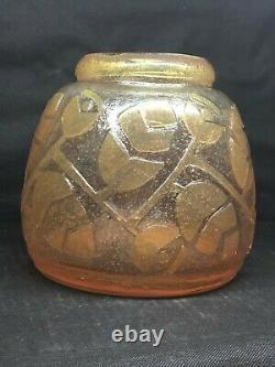 Vase Art Deco New Vintage Glass Souflet Unique Model