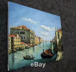 Venecia Vintage 51 X 61cm Estirado Pintura Al Oleo Linkzo Arte Decoración M003
