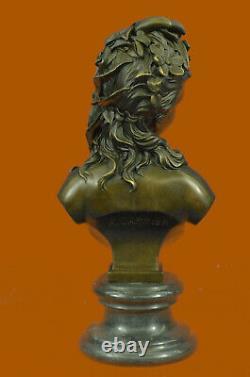 Victorian Maiden Bust Female Statue Style Art Nouveau Vintage Bronze Sale