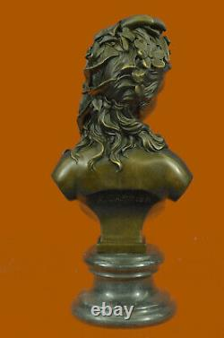Victorien Maiden Bust Female Statue Style Art New Vintage Bronze Sale