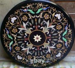 Vintage Art And Crafts Work Inlaid Coffee Top Round Table Dinner Table 152cm